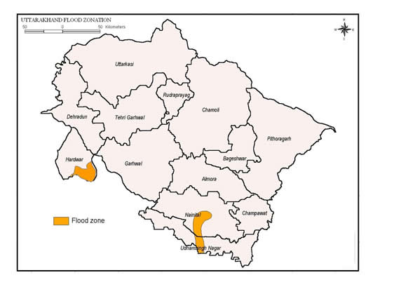 Flood Zone of Uttarakhand